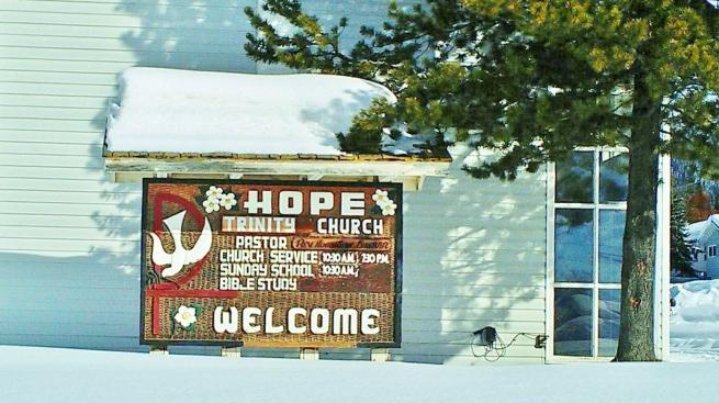 Hope Trinity sign