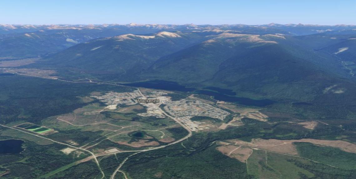 google maps earth view Mackenzie