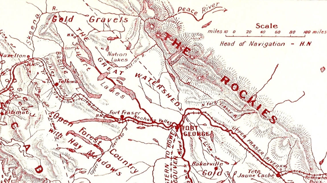 Thornhill 1913 map Northern BC