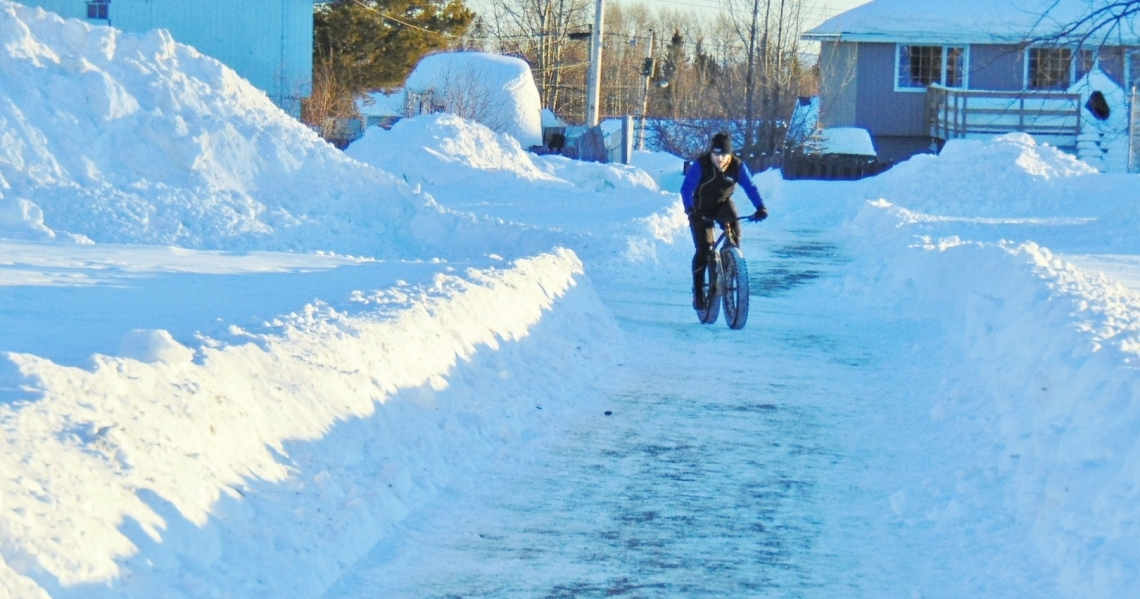 Winter biking in Mackenzie